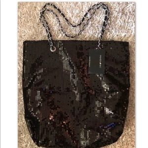 FASHION BUG Sequins Tote with Chain Handle